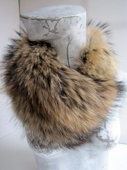 fur collar genuine Raccoon fur collar vario nature