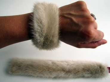 Mink, fur ,cuffs ,cream