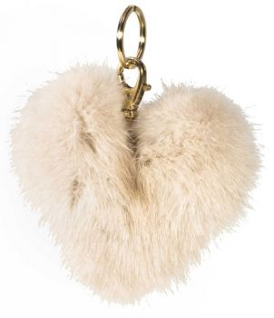 "Mink heart Tassel ""my first heart"" cream"