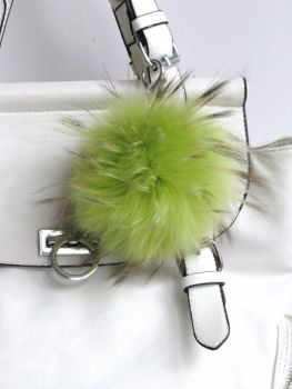 Keyring made of fur, bag charm green.
