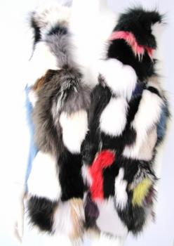 Trendy vest made of colorful fox