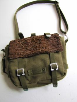 "Furry bag Persianer brown ""used fur"" belt pouch"