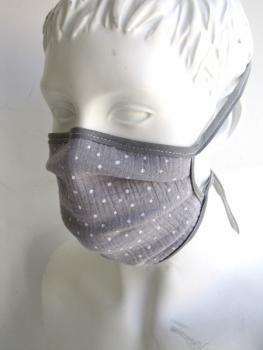 Mouth ,face, mask ,BIO, cotton , grey, star