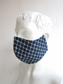"Mouth mask and face mask "" Elegant Blue"""