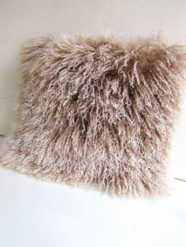 cushion from real Tibet lamb fur late