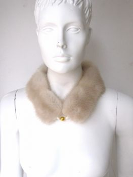 Mink, fur, collar, fur, loop ,cream
