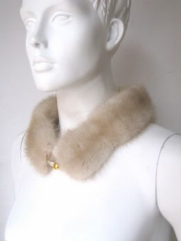 Mink, fur, collar, fur, cream