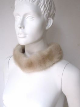 Mink, fur, collar, cream