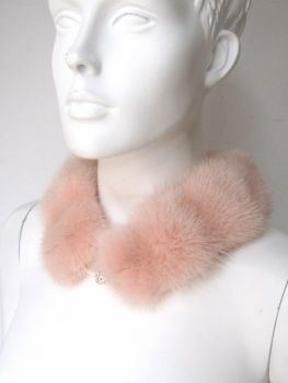 Mink Fur Collar Fur Loop Scarf Rose