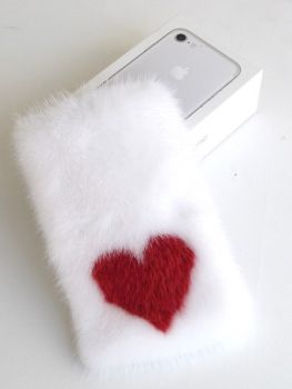 cover mink iphone weiss
