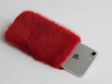 iphone 7 + iphone 8  Mink Bag Cover red