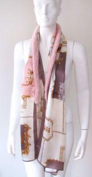 silk ,scarf ,real ,mink, fur ,rose