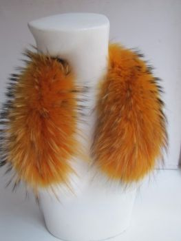 Pelzkragen echt Raccoon Loop Pelz orange x