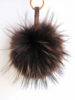 Fur Keyring, brown