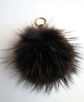Fur, brown bag charm