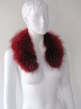 Raccoon fur collar jacket collar real fur red