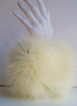 Fur cuffs fur cuffs fox champagne white