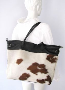Bag cowhide leather shopper