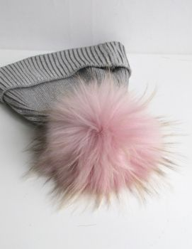 Fur pompon old pink raccoon
