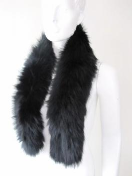 Fur scarf made of real fox black