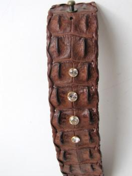 Bracelet, genuine, crocodile ,leather