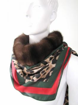 Fur cloth Mink Stola leo
