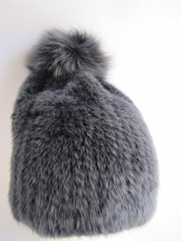 bobble ,hat ,fox ,fur,  Mink