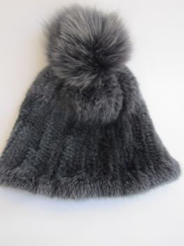 hat ,fox ,fur, anthracite, Mink