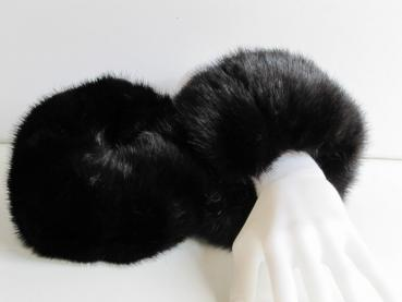 Mink fur cuffs real mink fur dark brown