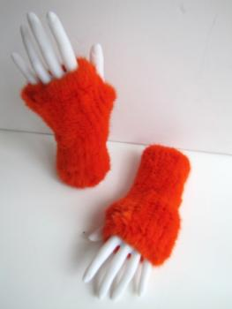 Mink ,gloves ,knitted