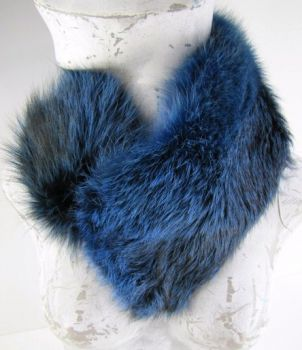 Red, fox ,fur, collar, blue