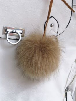 Keyring Bag Charm real fur Keyfinder bag pendant