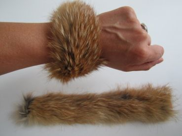 Fur Bracelets made of red fox