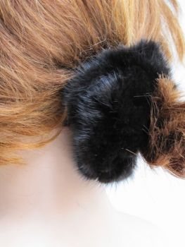 Hair Rubber Mink Scrunchie dark