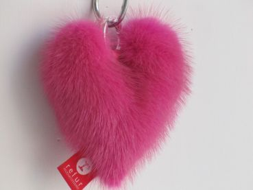 "Mink heart ""my first heart"" pink"