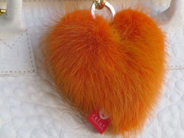Minks heart Tassel orange
