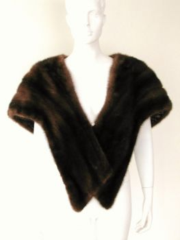 Mink cape Mink stole demi buff real fur