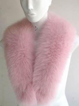 Fox collar fur collar made of fox fur pink