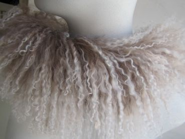scarf from Tibet lamb taupe