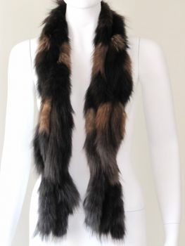 Sable scarf made of real sable pastel brown mix