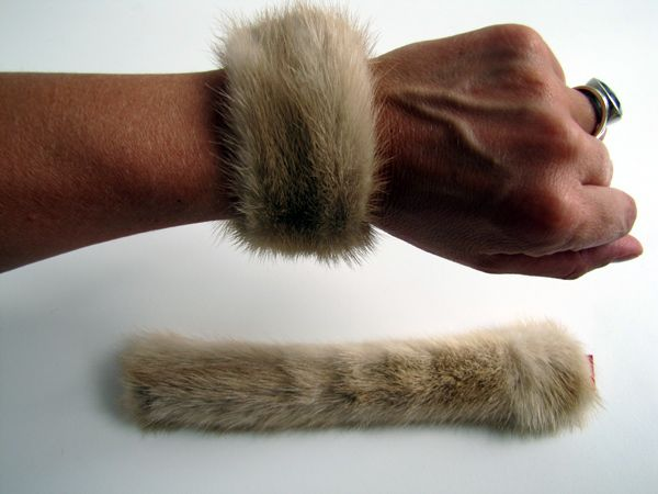 Mink, fur ,cuffs ,cream, beige