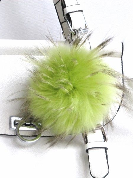 Keyring , bag charm green.