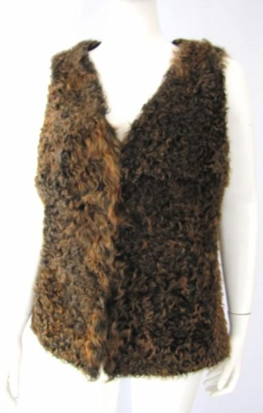 Fur, vest, lambskin, brown