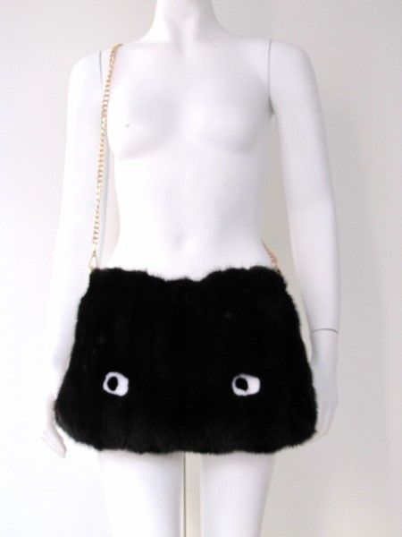 Mink ,fur, bag ,monster ,eyes