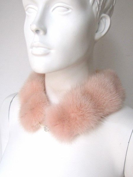 Mink , Collar, Fur ,Loop, Scarf, Rose
