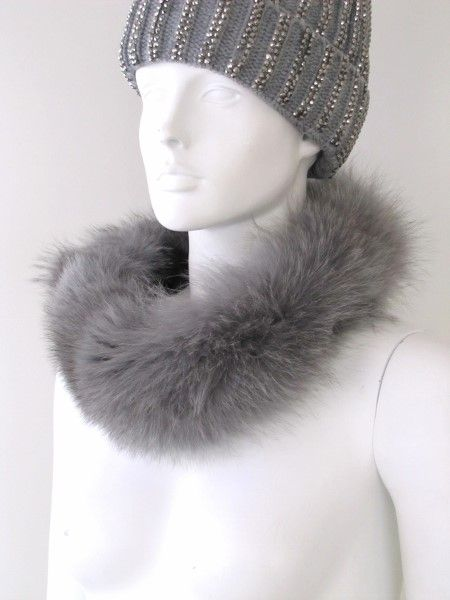 Fur ,Loop ,Fox ,grey, collar