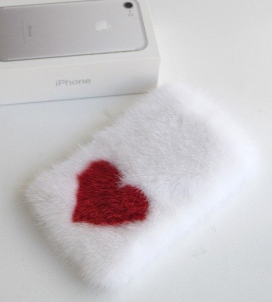 mink cover iphone weiss