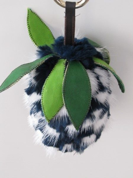 Bag Charm fruits blue