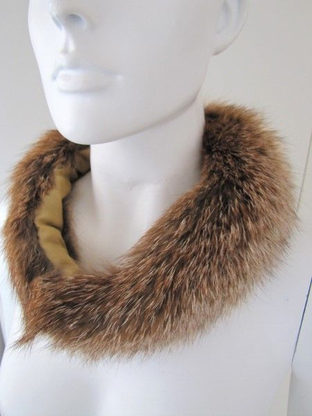 Casual ,fur ,collar ,genuine ,redfox