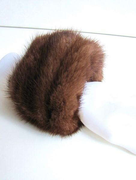 Mink ,cuffs, genuine, fur ,brown